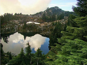 Photo: Bath Lakes and Mt Pilchuck by Don Beavon
