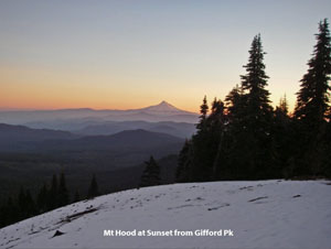Photo: Mt Hood from Gifford Peak by Fay Pullen